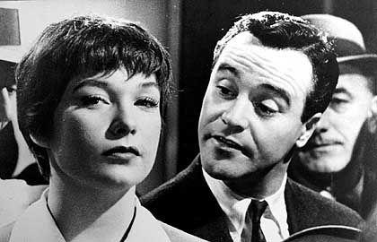 """Jack Lemmon und Shirley McLaine in """"Das Appartement"""": Kubelikmäßig den Vogel abgeschossen"""