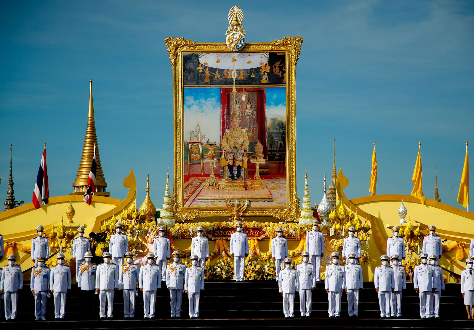 King Maha Vajiralongkorn Bodindradebayavarangkun celerbrates birthday, Bangkok, Thailand - 28 Jul 2020