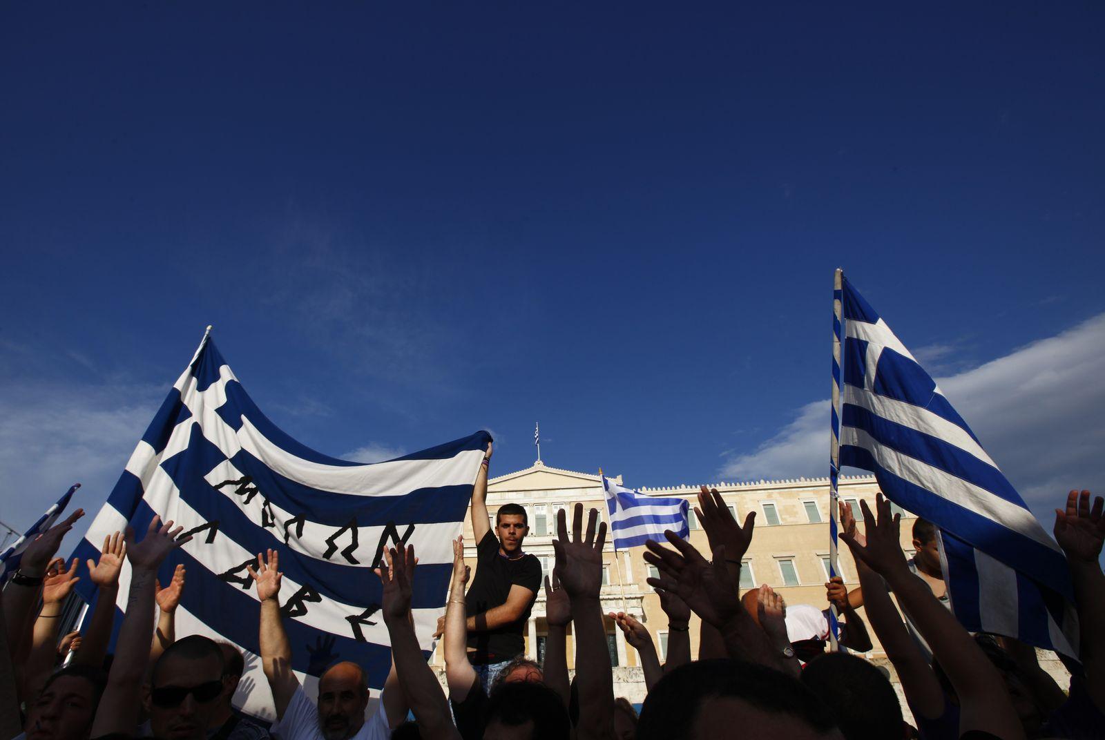 Griechenland/ Demo Korruption