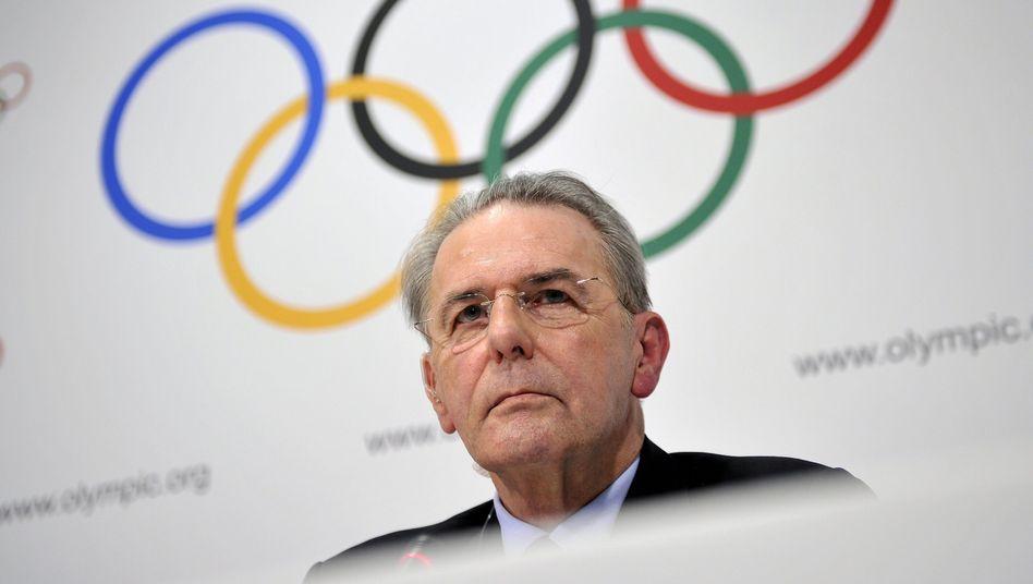 """IOC-Präsident Rogge: """"Wir zögern nicht zu handeln, wenn es nötig ist"""""""
