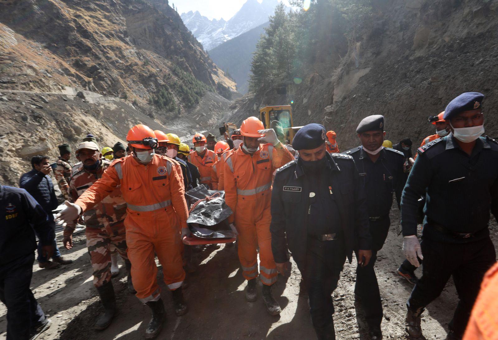 Glacier burst aftermath in Uttarakhand, India, Chamoli - 09 Feb 2021