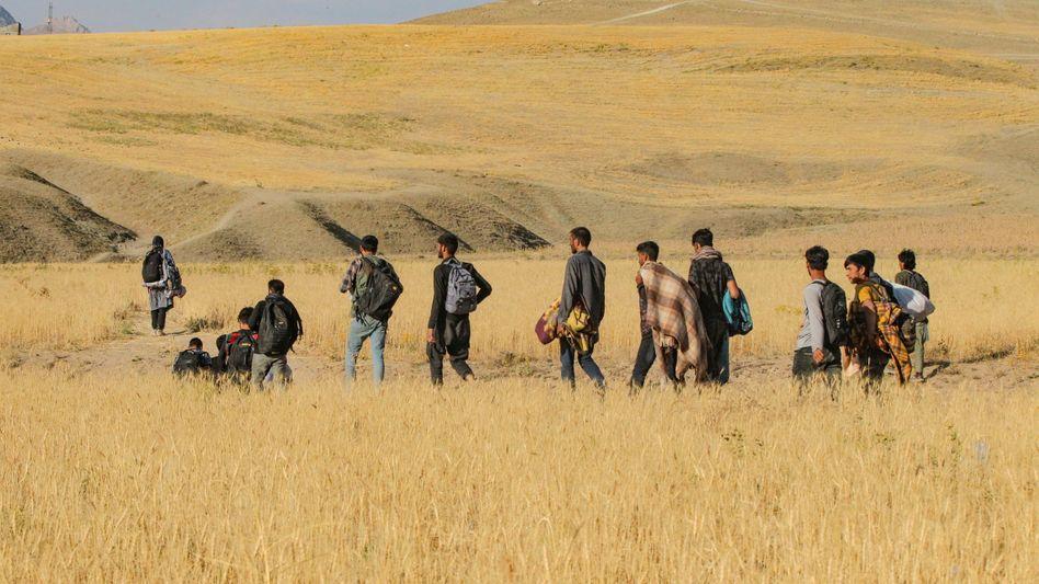 Migranten in der türkischen Grenzregion Van (Foto vom 27. Juli)
