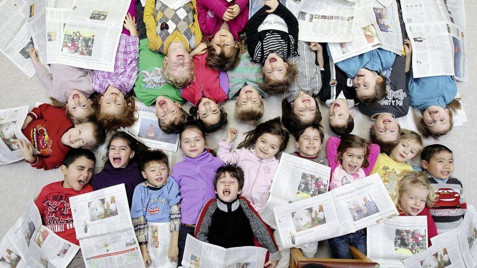 Kindergarten-Kinder bei Flensburg: Hoffnung auf ein Jobwunder