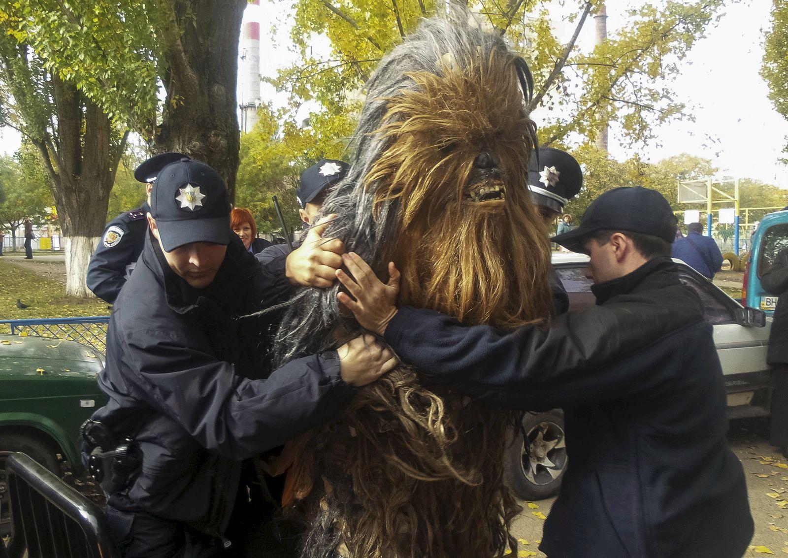 Ukraine Wahlen Chewbacca