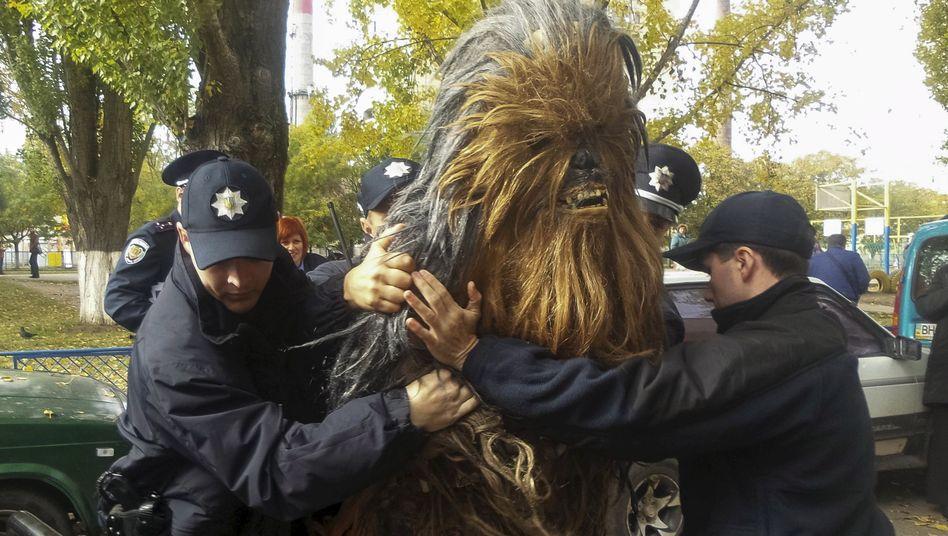 Aktivist in Odessa: Fahrer von Darth Vader