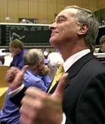 Betont optimistisch: EADS-Co-Chef Hertrich an der Frankfurter Börse