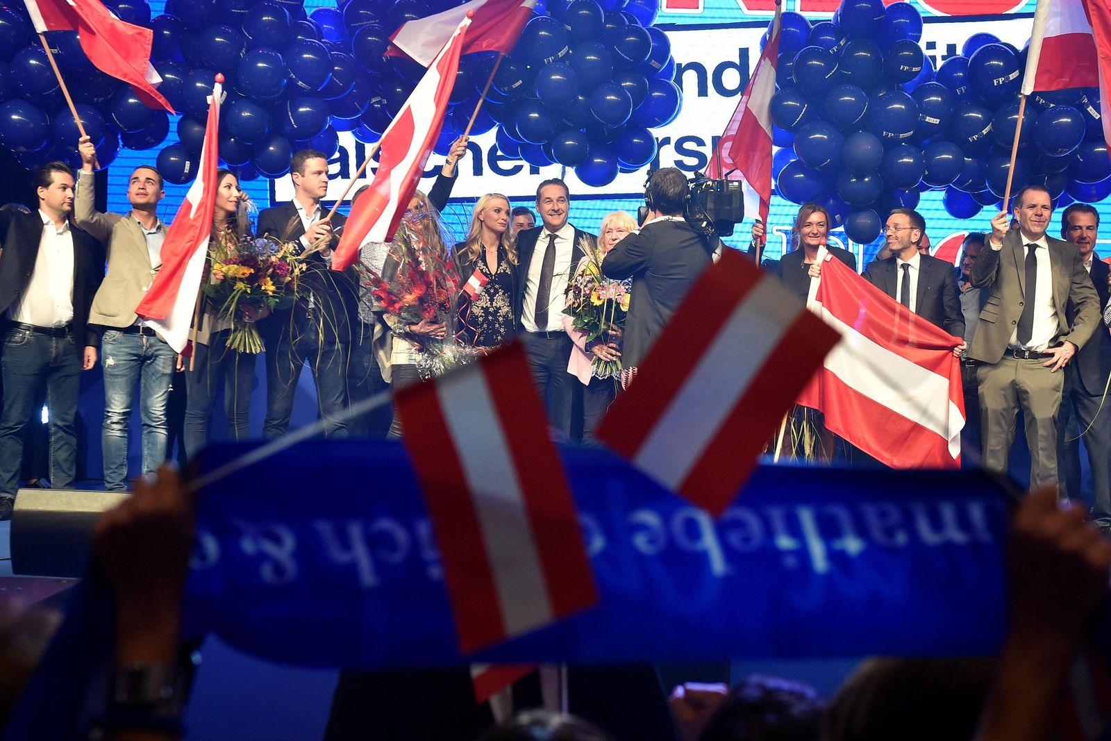Österreich / FPÖ Wahlfeier / Heinz-Christian Strache