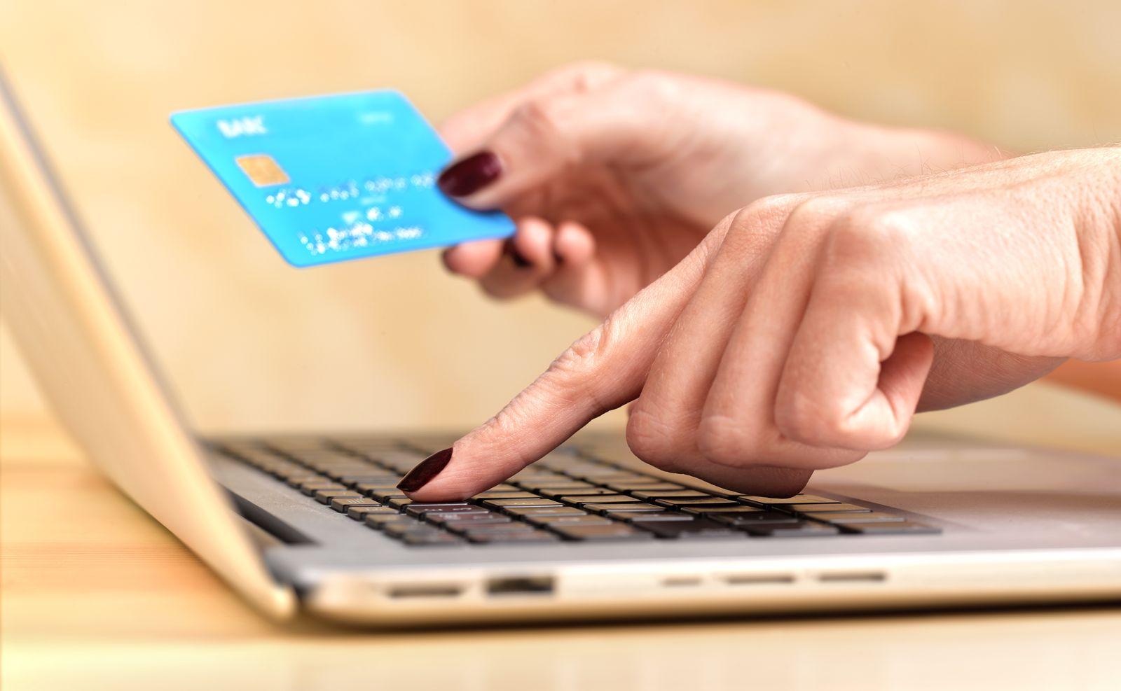 EINMALIGE VERWENDUNG Online-Shopping