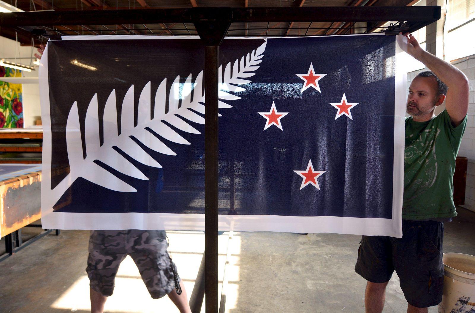 Neuseeland / Flaggenstreit