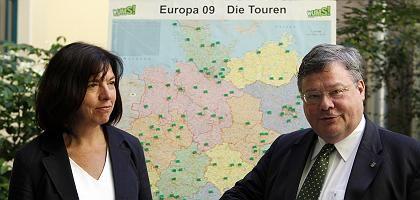 Grünen-Spitzenkandidaten Harms, Bütikofer: Rückenwind aus Umfragen