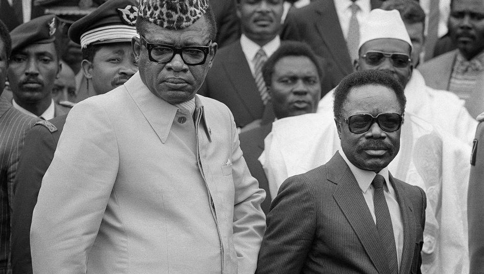 Zaires Präsident Mobutu (l., 1984): Torgeiler Tyrann