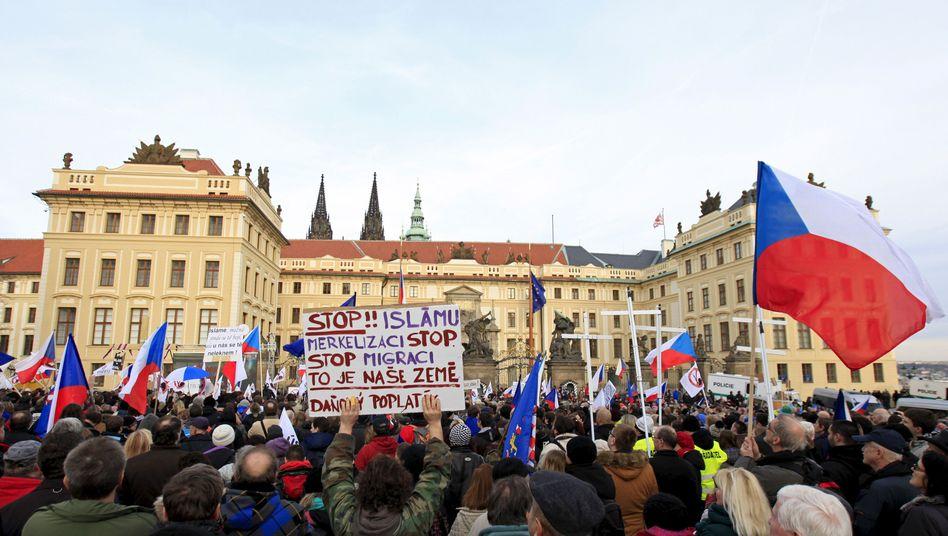 Demonstration in Prag