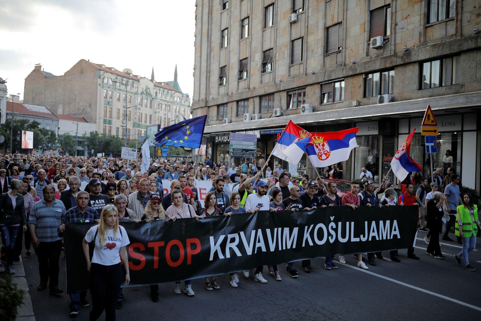Serbien/ Proteste/ Demonstrationen/ 2019