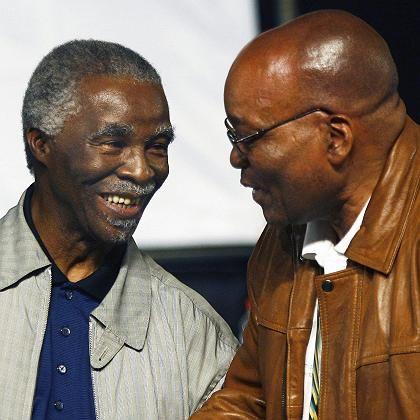 Ex-ANC-Chef Mbeki, Nachfolger Zuma: Schwere Zeiten für Südafrika