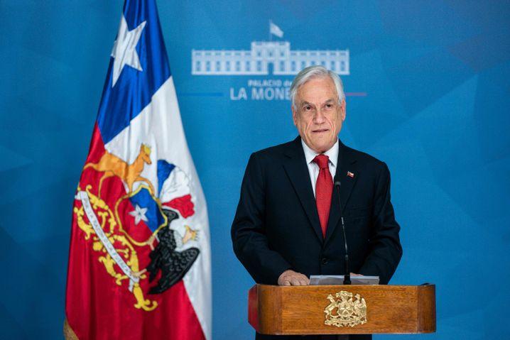 """Staatschef Piñera: """"ein Organisationsgrad, der nur einer kriminellen Organisation entspringen kann"""""""