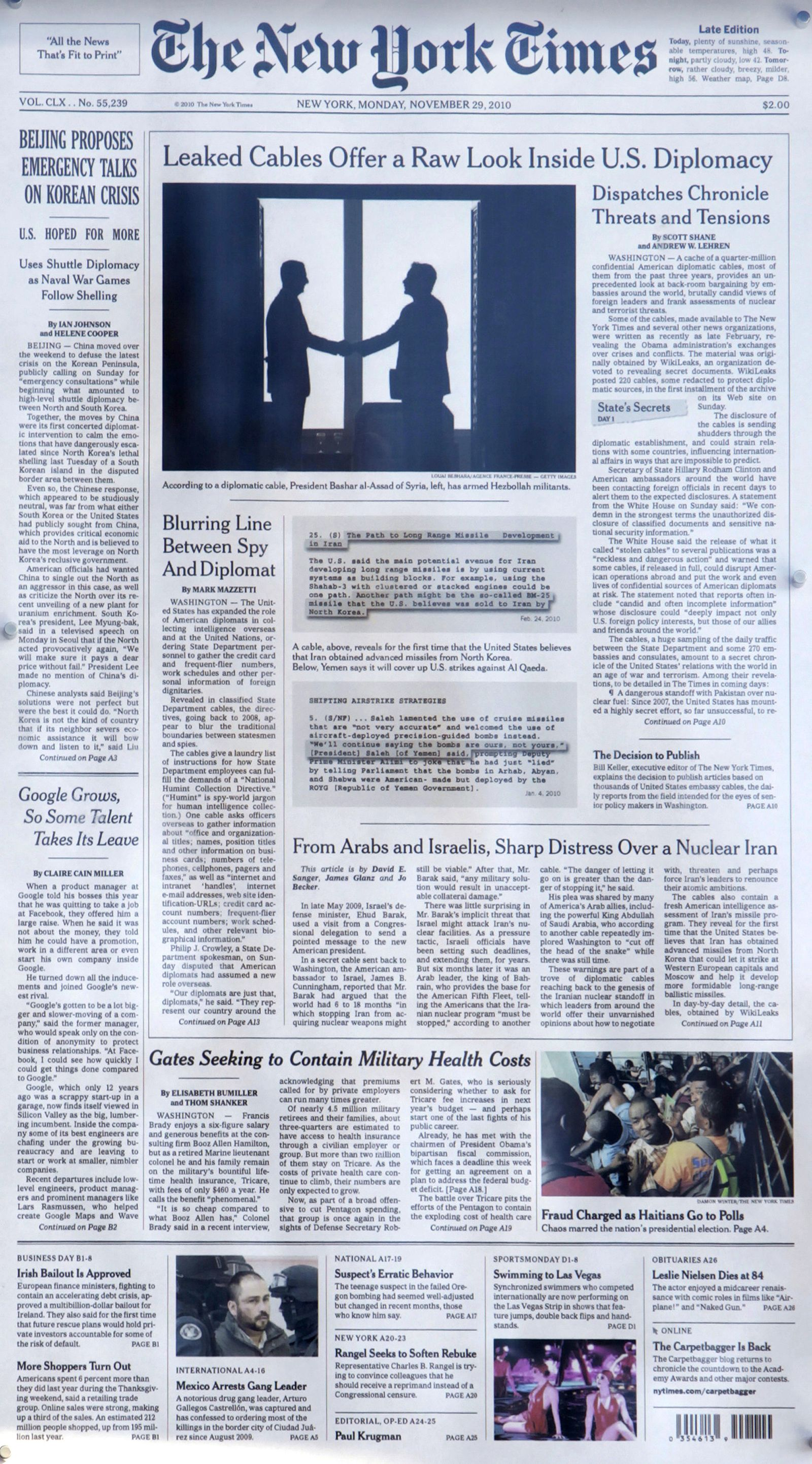 Cover / Wikileaks / New York Times / NYT