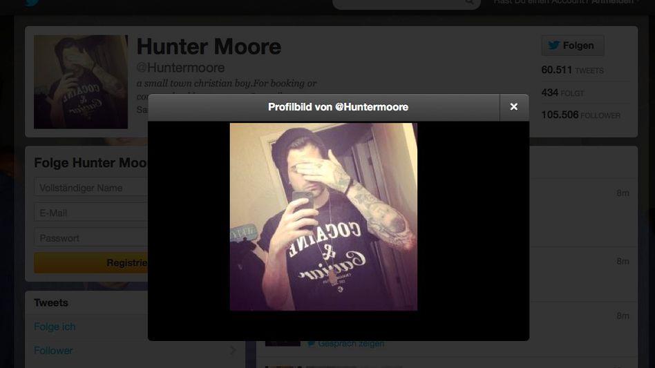 Hunter Moore auf Twitter: Selbstporträt, hochgeladen ganz ohne Rachegelüste