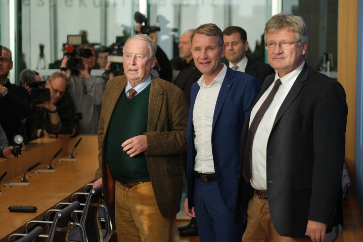 AfD-Politiker Alexander Gauland, Björn Höcke und Jörg Meuthen