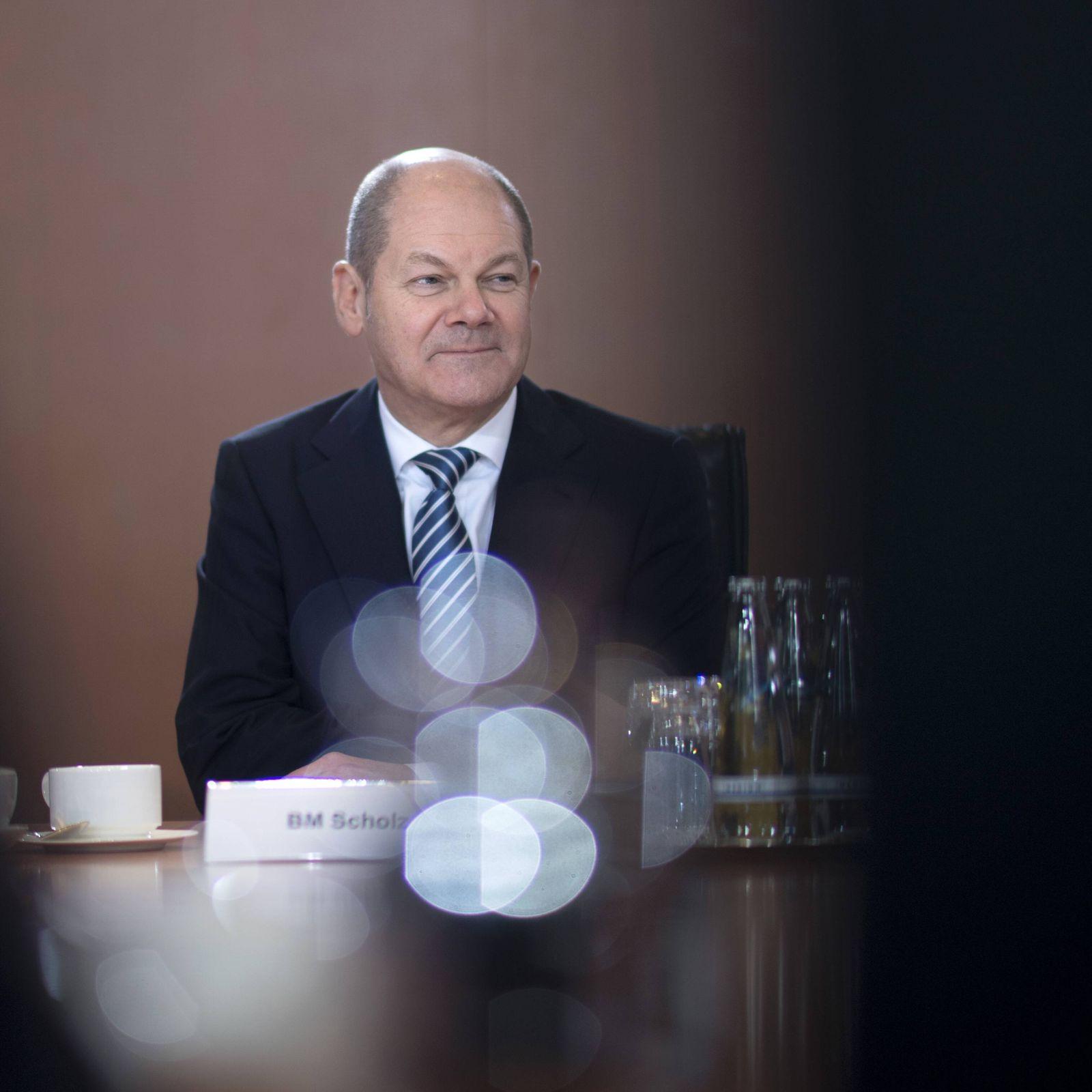 EINMALIGE VERWENDUNG Olaf Scholz