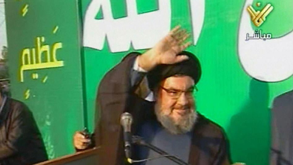 Hisbollah-Chef Nasrallah: Am Montag zeigte er sich überraschend in der Öffentlichkeit