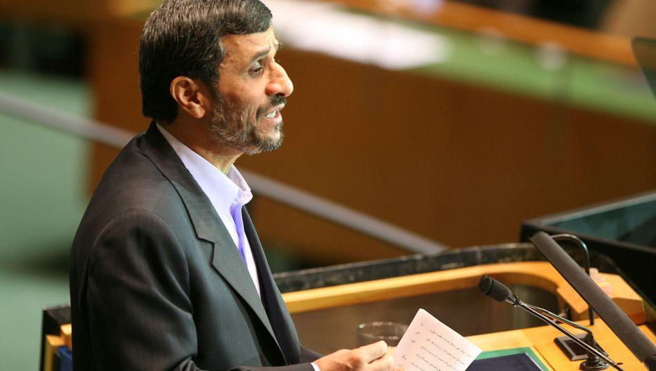 Irans Präsident Ahmadinedschad vor der Uno: Kein Wort zum Atomprogramm
