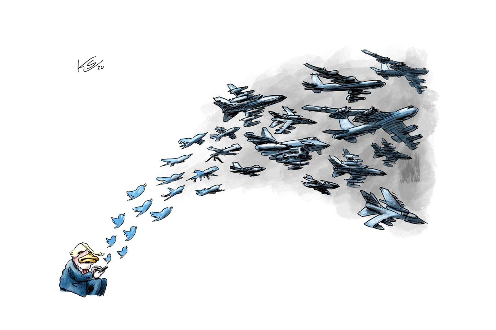 EINMALIGE VERWENDUNG Cartoons/ 07.01.20
