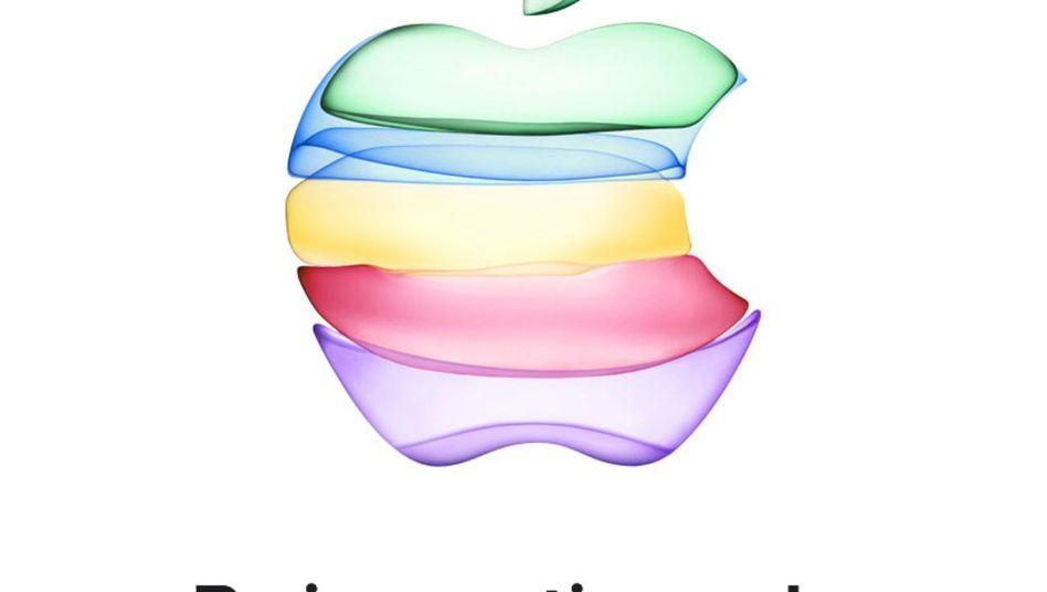 Die Grafik auf Apples Einladungsschreiben könnte auf neue iPhone-Farben hindeuten