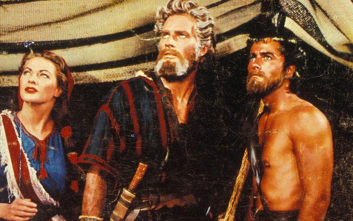 """Die Mutter aller Bibelfilme: """"Die zehn Gebote"""" mit Charlton Heston (M.)"""