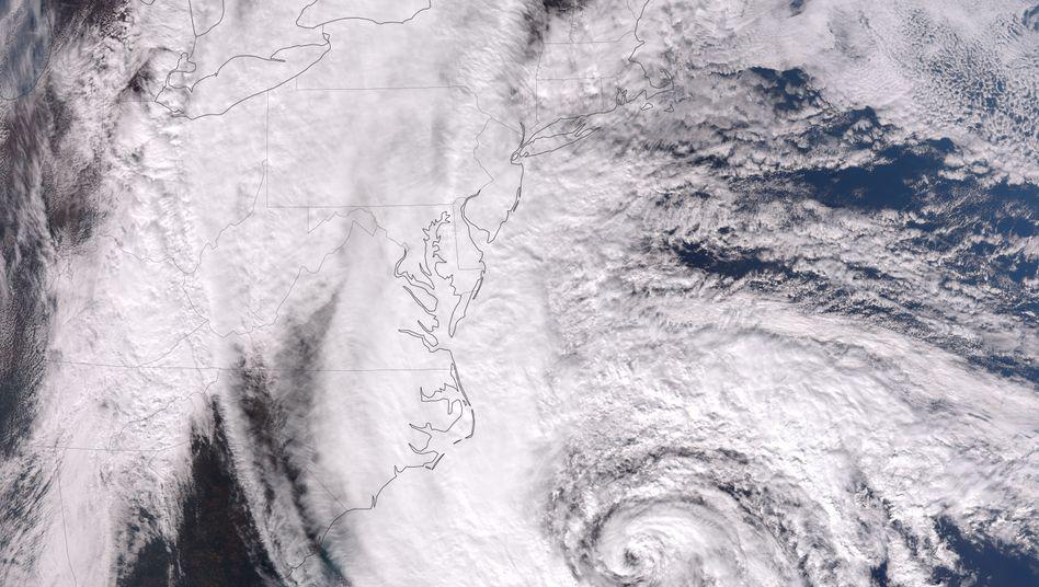 """Hurrikan """"Sandy"""" (Oktober 2012): Wirkung von Staub unterschätzt?"""