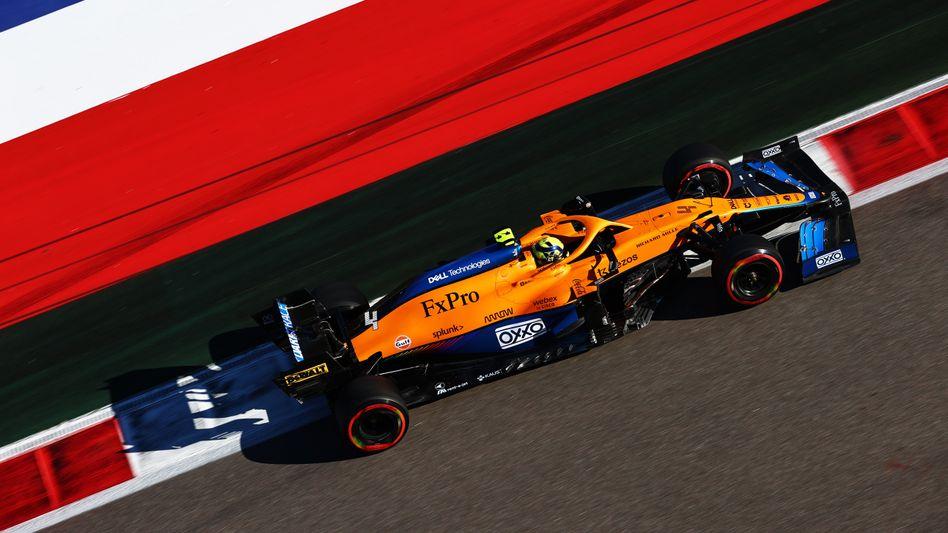 Lando Norris in seinem McLaren