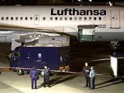 Beim Beladen überfallen: Eine Lufthansa-Maschine in Brüssel
