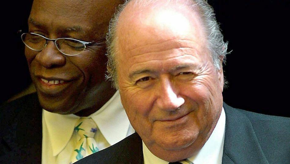 Fifa-Funktionäre Blatter und Warner: eine lukrative Geschäftsbeziehung.
