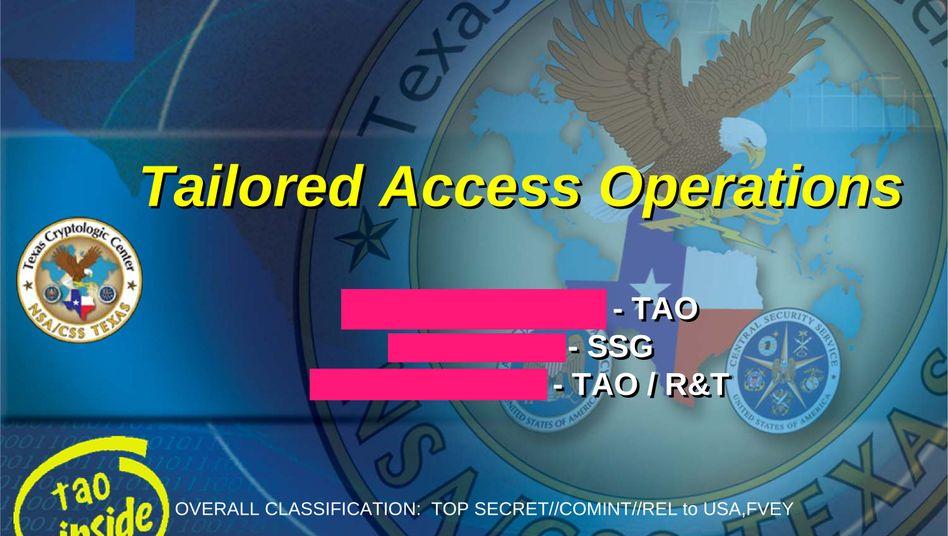 Logo der NSA-Sonderabteilung TAO: Maßgefertigte Spionagewerkzeuge