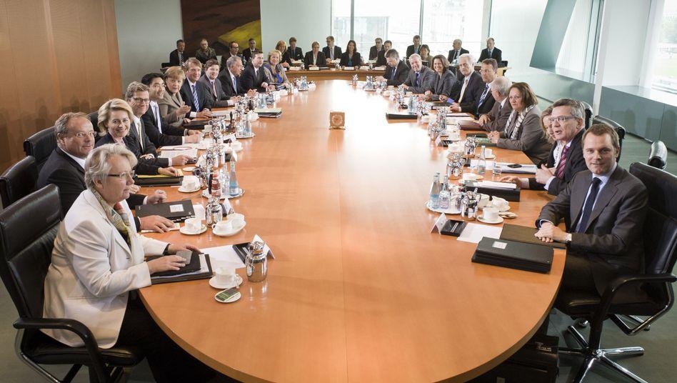 Kabinettssitzung im Kanzleramt: Die Bundesbürger urteilen verheerend