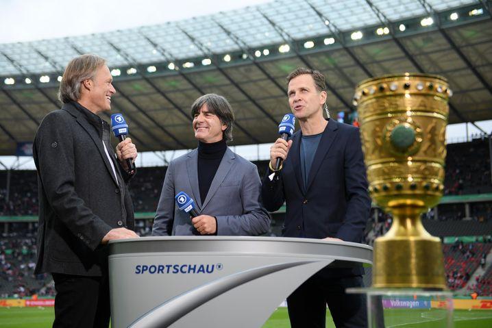 Finale auch für Delling, Pokalendspiel mit Löw und Bierhoff