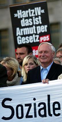 Kandidat Lafontaine: Reform als verfassungswidrig kritisiert