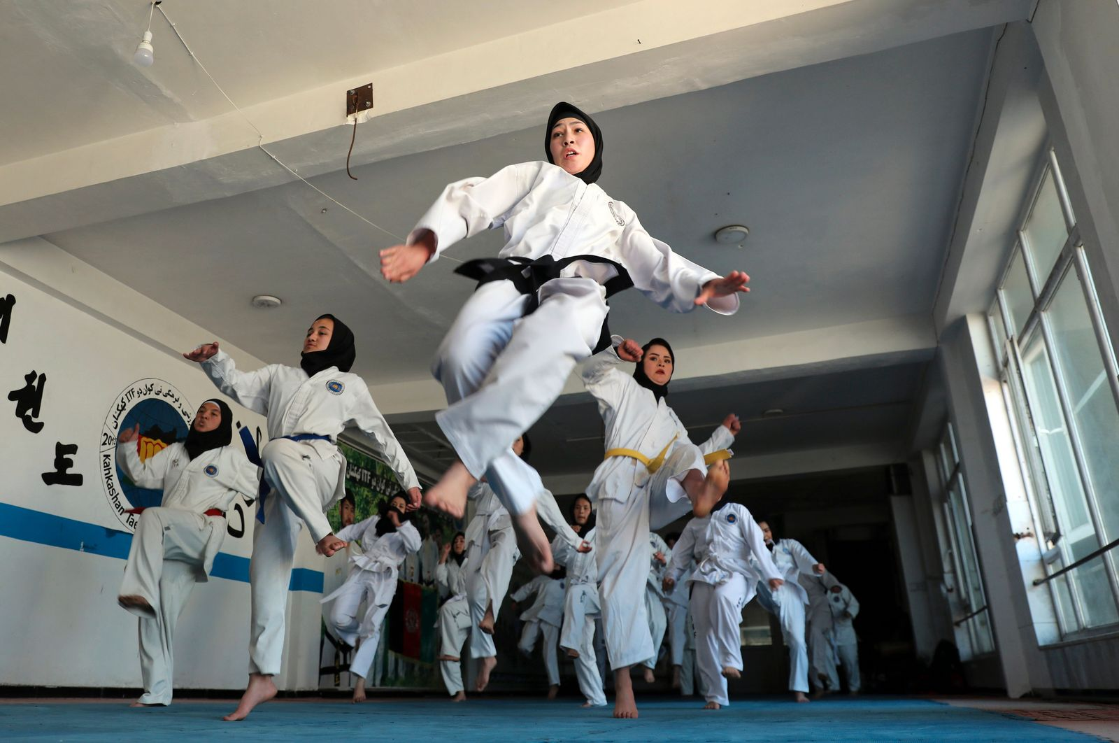 APTOPIX Afghanistan Taekwondo