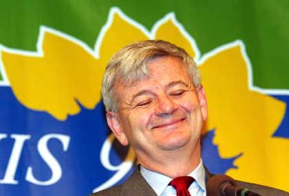 Green front man Joschka Fischer is the most popular politician in Germany.