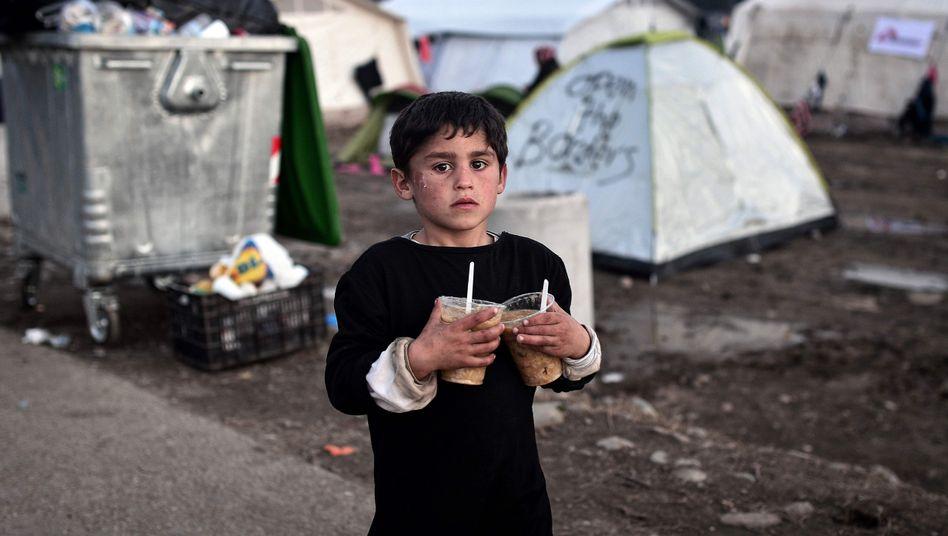 Junge im Camp Idomeni