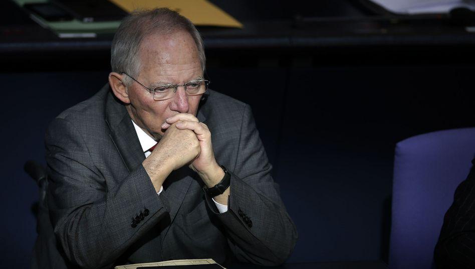 """Finanzminister Schäuble: """"Ich bin doch nicht so blöd, dass ich Hitler mit jemandem vergleiche"""""""