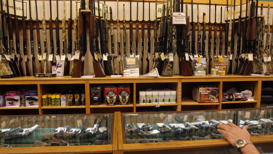 Waffen in einem Geschäft in Texas
