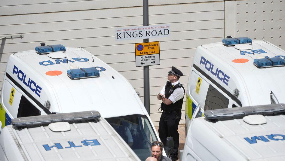 Polizeiwagen in Barking