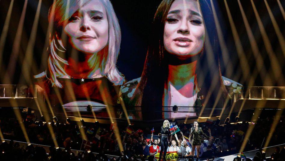 """Das Duo S!sters präsentierte beim ESC-Finale den Song """"Sister"""" - und bekam dafür 24 Punkte"""