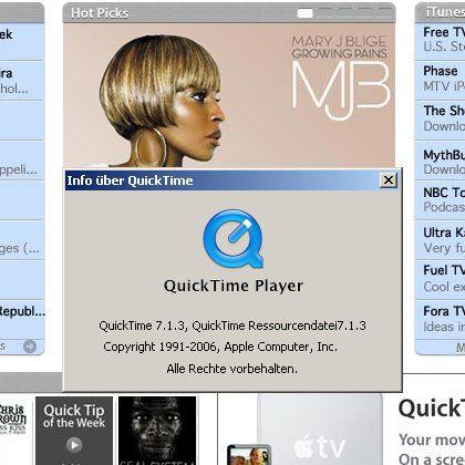Multimedia-Software Quicktime: Öffnet ein Einfallstor zu Windows
