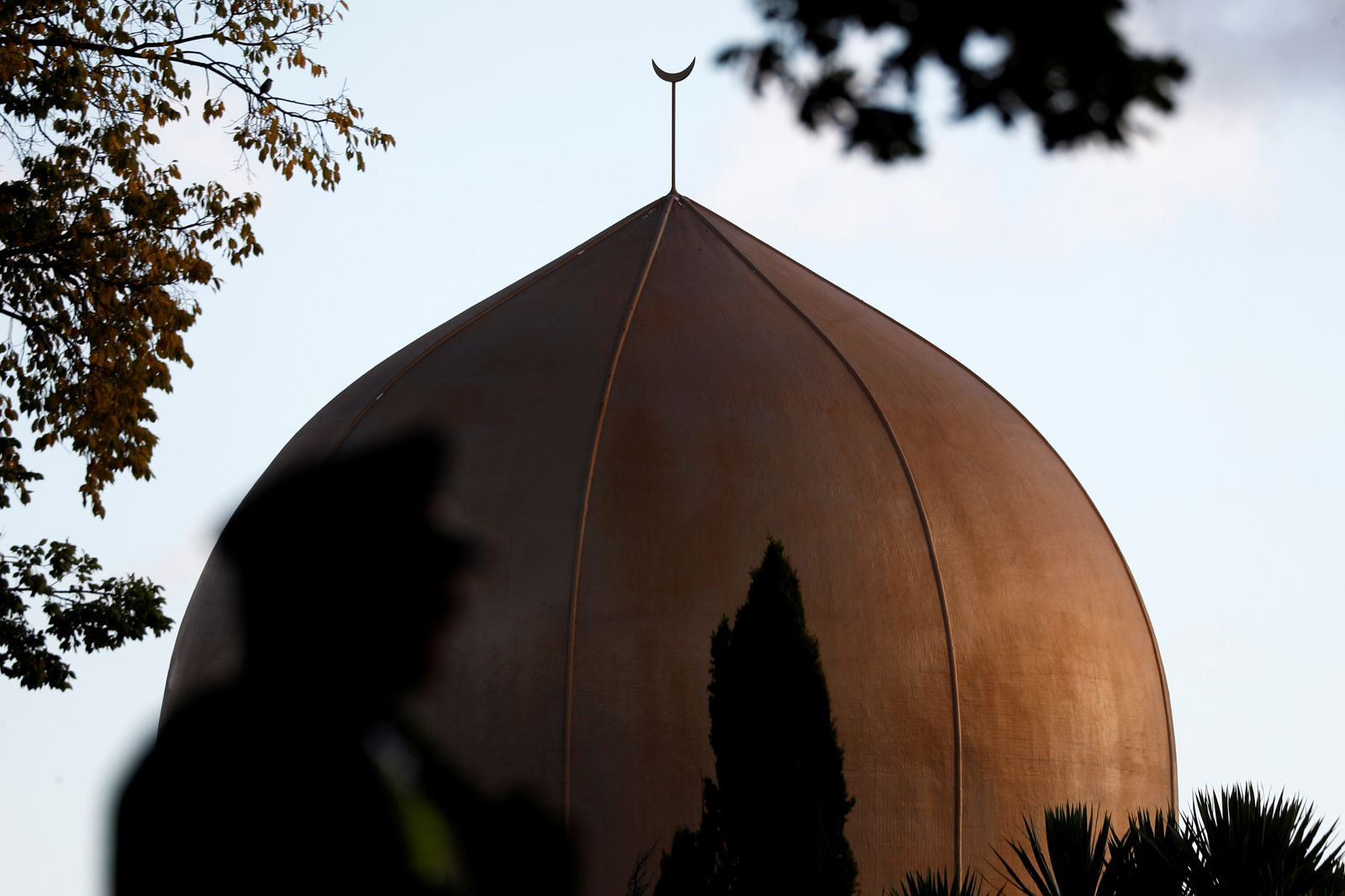 A view of the dome of Al Noor mosque, where the shooting took place, in Christchurch