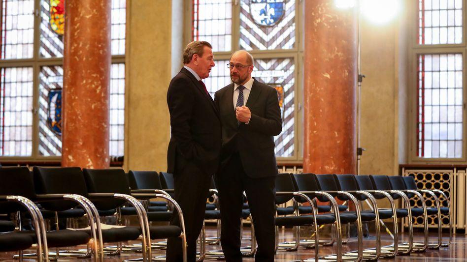 Altkanzler Schröder, Kanzlerkandidat Schulz