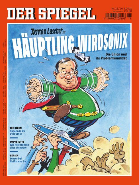 »Armin Laschet in Häuptling Wirdsonix: Die Union und ihr Problemkandidat«, lautet der Titel des neuen SPIEGEL. Die Ausgabe erhalten Sie hier digital und ab Samstag am Kiosk.