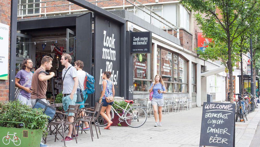 Fahrrad-Café Look Mum No Hands: Milchkaffee und Maulschlüssel