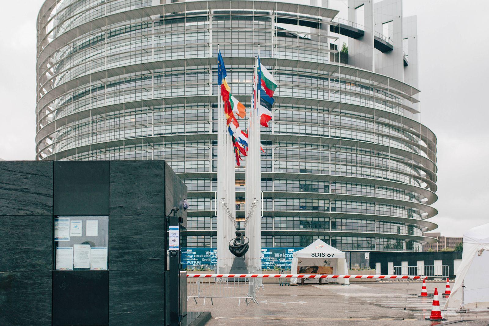 FRANCE - STRASBOURG - EU - PARLIAMENT - COVID SCREENING CENTER Opening of the coronavirus testing centre at the Europea