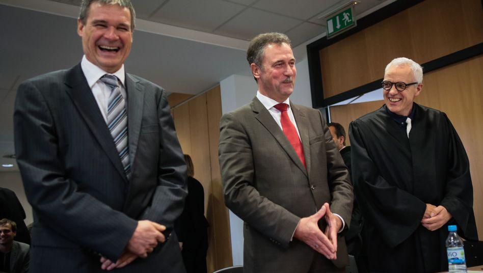 GDL-Chef Weselsky (Mitte): Erfolg vor Gericht